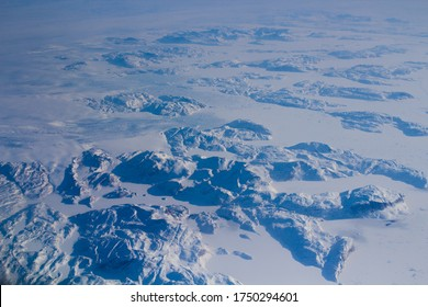 Northpole out of a plane