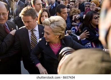 Northridge, CA January 17, 2008:  Presidential candidate Senator Hillary Clinton at a rally at California State University Northridge (CSUN).