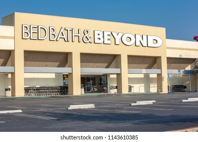 Northridge, CA/USA. July 27,2018. Bed Bath Beyond storefront. Bed Bath Beyond Inc. is an American-owned chain of domestic merchandise stores.