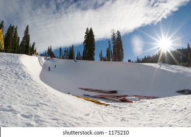 Northstar's Superpipe after the 2005 Vans Tahoe Cup
