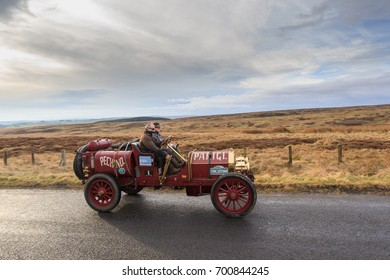 NORTHUMBERLAND, ENGLAND - MARCH 31, 2017: A 1907 Italia 40 competes on the 2017 Flying Scotsman Rally for Pre War cars organised by ERA (Endurance Rally Association).