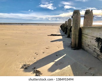 Northumberland Sunny Beach with clouds
