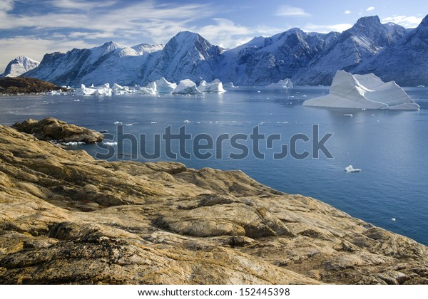 Northwest Fjord in the far reaches of Scoresbysund in eastern Greenland