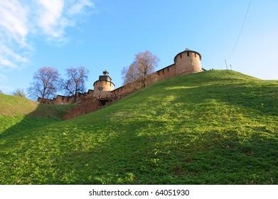 The north-west part of the kremlin in Nizhny Novgorod, Russia