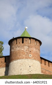 The north-west tower of the kremlin in Nizhny Novgorod, Russia