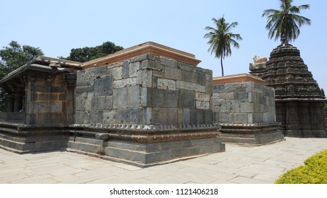 North-west view of Ishvara Temple, Arasikere, Hassan District of Karnataka state, India. The temple was built in 1220 CE rule of Hoysala Empire.