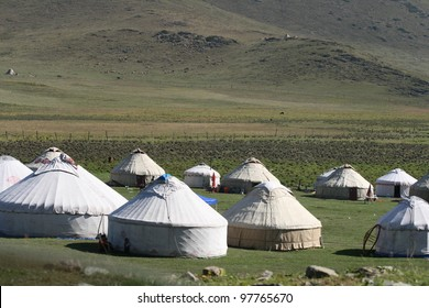 In northwestern China Mongol nomads live in felt gers often times called yurts that are hauled by camel