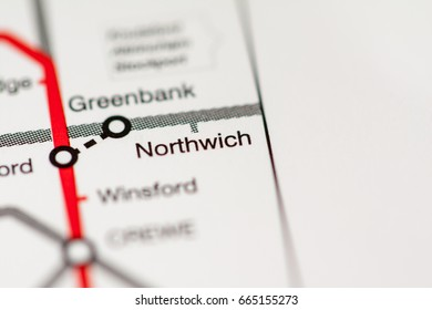 Northwich Station. Liverpool Metro map.