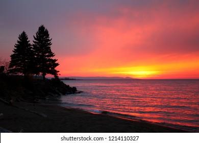 Northwoods Michigan Sunset Silhouette