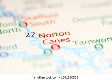 Norton Canes. United Kingdom on a geography map