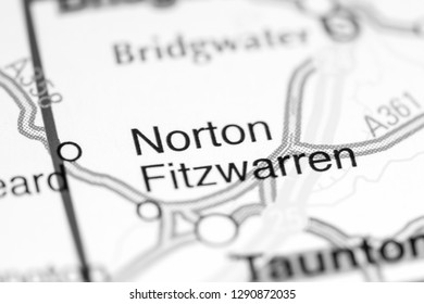 Norton Fitzwarren. United Kingdom on a map