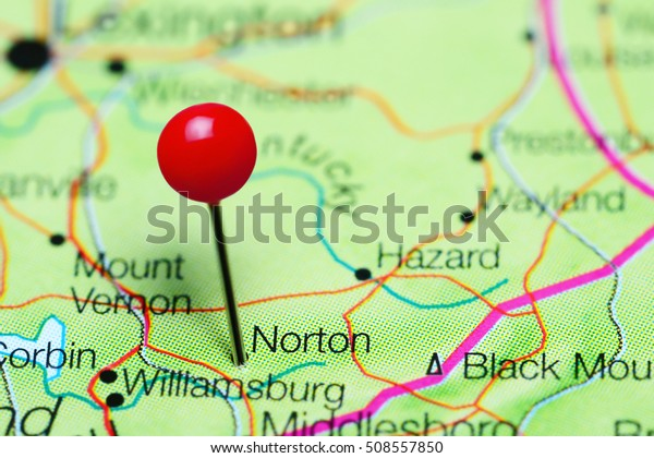Norton Pinned On Map Kentucky Usa Stock Photo (Edit Now ...