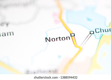 Norton. United Kingdom on a geography map