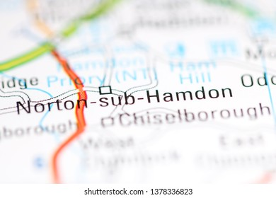 Norton-sub-Hamdon. United Kingdom on a geography map