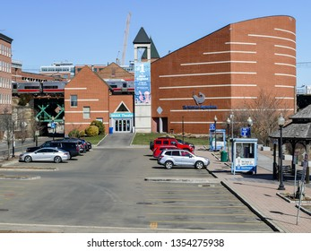 NORWALK, CT, USA - MARCH 26, 2019: Maritime Aquarium is famous landmark and popular tourists and local people attraction