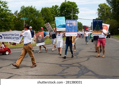 """Norwalk, CT, USA - May 24, 2015: The individuals are some of the many participants at the """"Memorial Day Parade"""" held in the city of Norwalk, Connecticut, on May 24, 2015."""