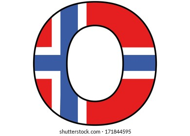 Norway Alphabet Illustration - O