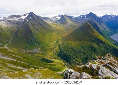 Norway - Sunnmørsalpene - amazing mountain near Urke. Saksa, Hjørundfjorden
