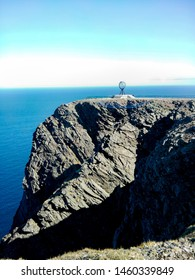 Norway, Finnmark, Magerøya island. Nordkapp: nordkapp cliffhanger with the monument in a summer sunny day.
