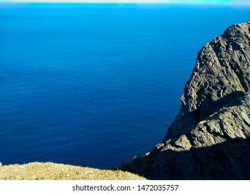 Norway, Finnmark, Magerøya island. Nordkapp: nordkapp cliffhanger in a summer sunny day.
