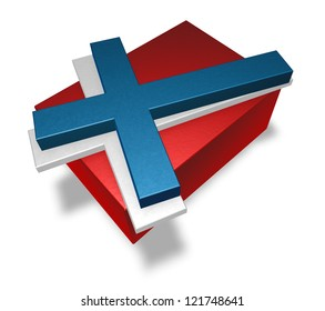 norway flag on white background - 3d illustration