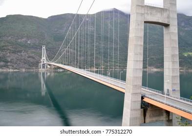 Norway Hardangerfjord Hardanger bridge