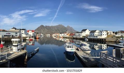 Norway Henningsvaer Harbor