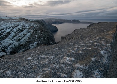 Norway honningsvag north cape winter