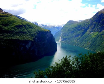 Norway,  June 23, 2013, view of the river in fjords.
