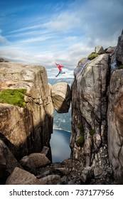 Norway Kjeragbolten Jump