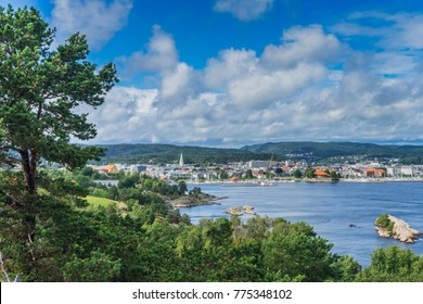Norway, Kristiansand view from Oderoya