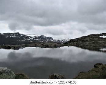 Norway lake in mountains