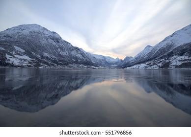 Norway landscape. Fjord.