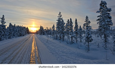 Norway landscapes and sunrises in winter.