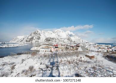 Norway Lofoten Henningsvaer Panoramic