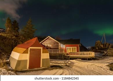 Norway Lofoten Sennesvik northen lights