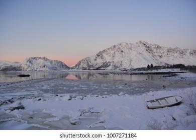 Norway Lofoten Winter Sky