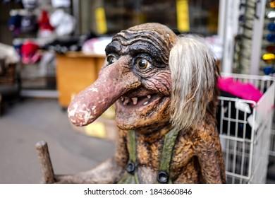 Norway magical creature troll female statue