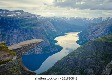 Norway Mountain Trolltunga Odda Fjord Norge Hiking Trail Waterfall The Troll Tongue Norge Scandinavia Nature Travel National Geographic Oslo Fjord
