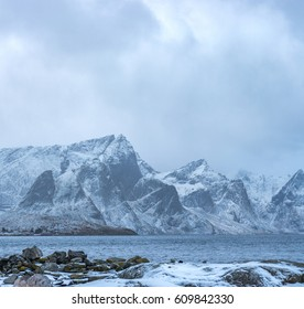 Norway mountains winter landscape