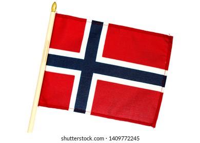 Norway National Flag  isolated on white background