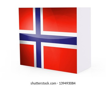 Norway. Norwegian flag on software box