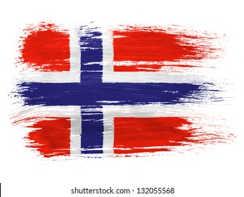Norway. Norwegian flag on white background