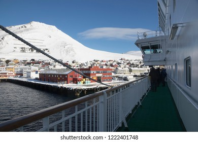 NORWAY ON APRIL 2016: Honningsvag is the northernmost city of Norway. Nordkapp municipality Finnmark county. Norway
