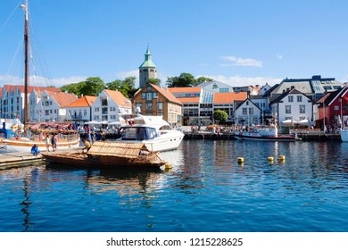 Norway, Stavanger, 07/23/2010, embankment, port. Stavanger embankment, where the cruise port is located.