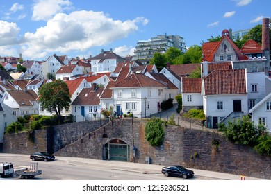 Norway, Stavanger, 07/23/2010, embankment. Stavanger embankment, where the cruise port is located.