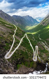 Norway troll road - mountain route of Trollstigen, Norway