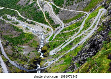 Norway troll road, mountain route of Trollstigen