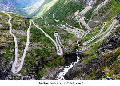 Norway troll road - mountain route of Trollstigen