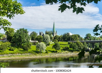 Norway, Trondheim cityscape